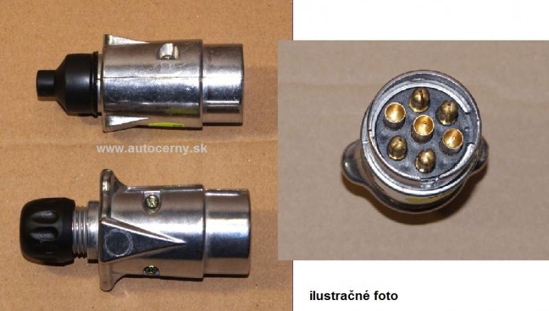 Vidlica/zástrčka 7-pólová na príves (1ks) - kovová