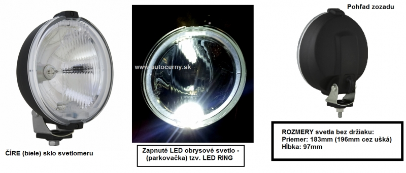 WESEM - Dialkový biely gulatý 183mm (1ks) + LED RING 24V