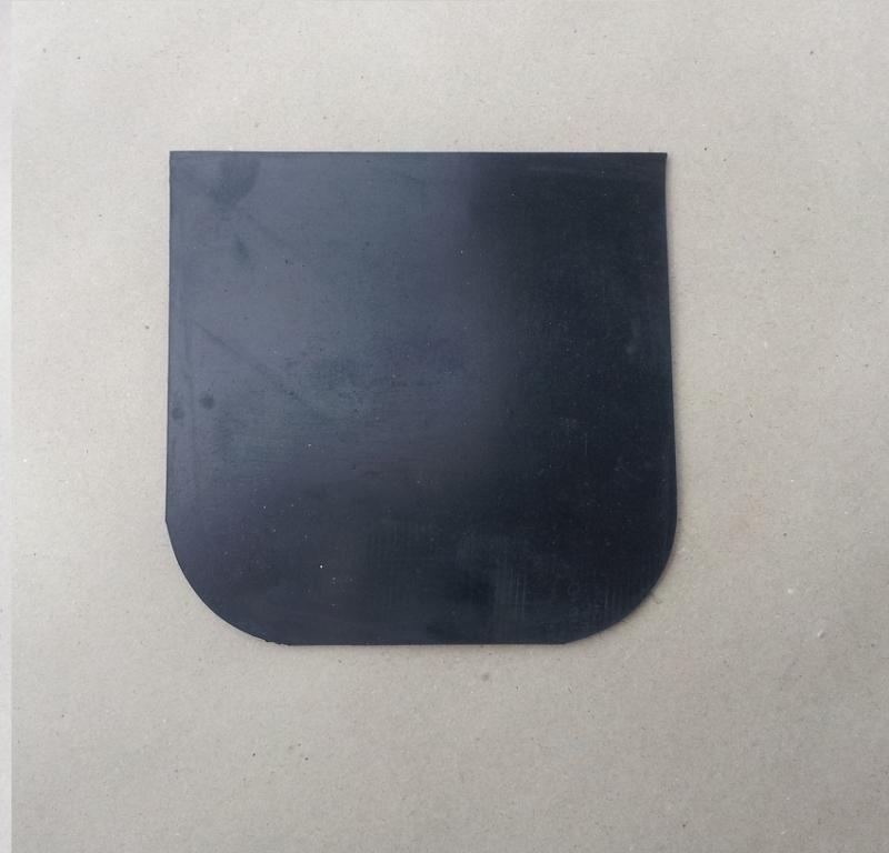 Zásterka gumová - čierna (1ks)