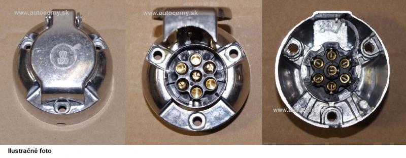 Zásuvka 7-pólová (na aute) 1ks - kovová